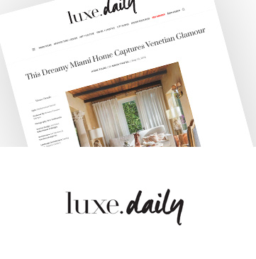 luxe.daily webpage mockup